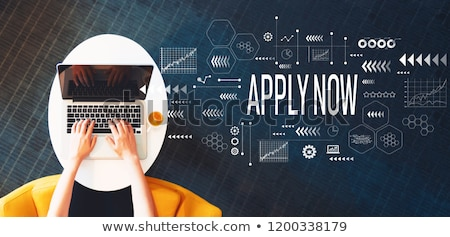 join now concept on laptop screen stock photo © tashatuvango