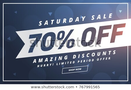 amazing saturday discount and offer template design Stock photo © SArts