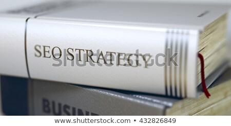 Seo strategii książki tytuł kręgosłup Zdjęcia stock © tashatuvango