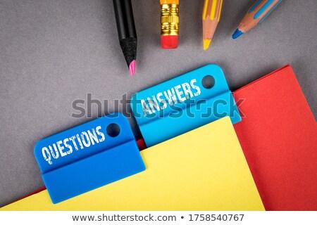 Folder Index with Answers. Stock photo © tashatuvango