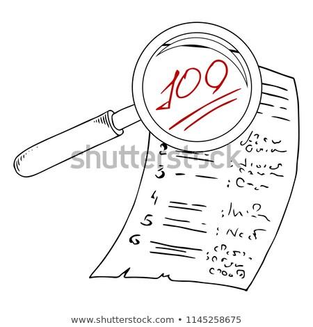 business education through magnifying glass doodle design stock photo © tashatuvango