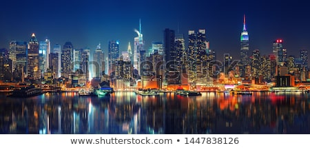 View of NYC by night Stock photo © vwalakte