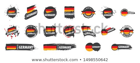 germany flag ribbon isolated german symbol national tape state stock photo © popaukropa