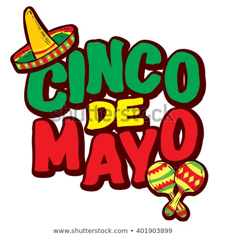 Cinco de mayo card template with mexican musical instruments Stock photo © bluering