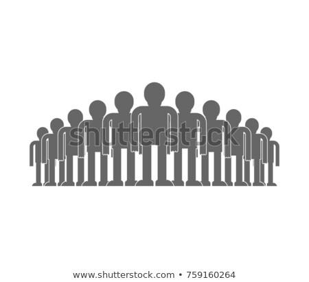 Kalabalık insanlar ikon yalıtılmış toplum vektör Stok fotoğraf © MaryValery