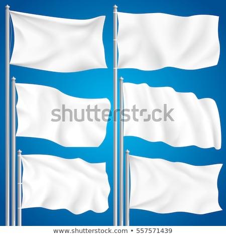 Bianco bandiera modello clean orizzontale Foto d'archivio © Makstorm