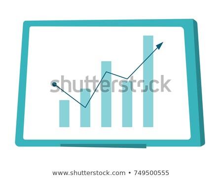 Crescente gráfico de barras vetor desenho animado apresentação Foto stock © RAStudio