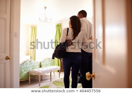 Three women arriving at a hotel Stock photo © IS2