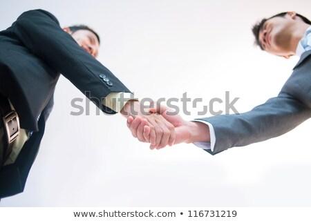 asiático · empresários · contrato · escritório · corporativo · pessoas · de · negócios - foto stock © studioworkstock