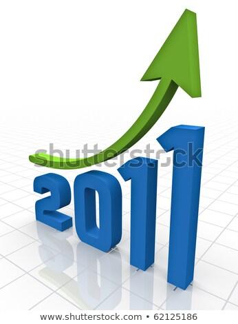 2011 növekedés üzlet üzenet remény piac Stock fotó © paviem
