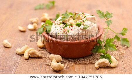 Vegan queijo caju comida madeira jantar Foto stock © M-studio