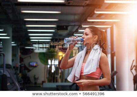 nő · elvesz · törik · tornaterem · munka · egészség - stock fotó © is2