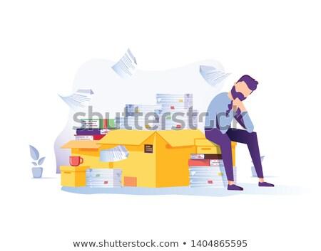 Imprenditore testa mani uomo riunione tavola Foto d'archivio © IS2