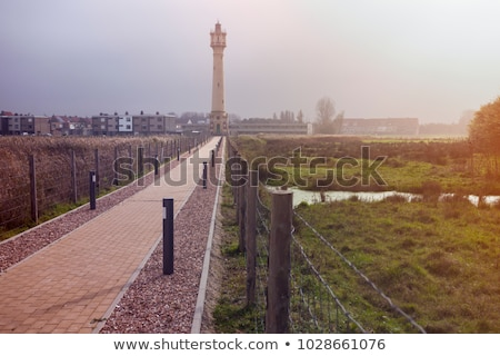 Heist Range Rear Lighthouse in Belgium Stock photo © benkrut