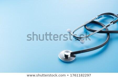 聴診器 青 黒 ソフト コピースペース ストックフォト © sidewaysdesign