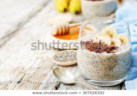 Stock fotó: Puding · banán · csokoládé · étel · fa · desszert