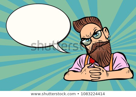 бородатый очки скептический комического Сток-фото © rogistok