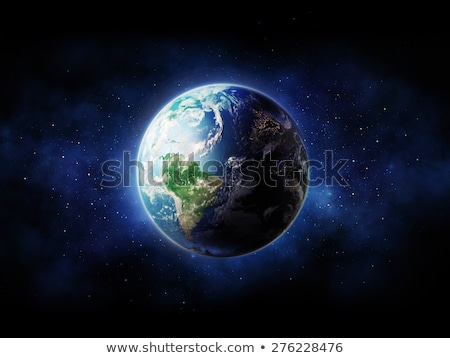 地球 · 日の出 · 3D · レンダリング · 要素 · 画像 - ストックフォト © ixstudio