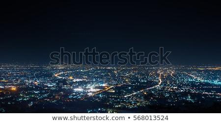 Dubai · belváros · éjszaka · éjszakai · jelenet · város · fények · iroda - stock fotó © anna_om