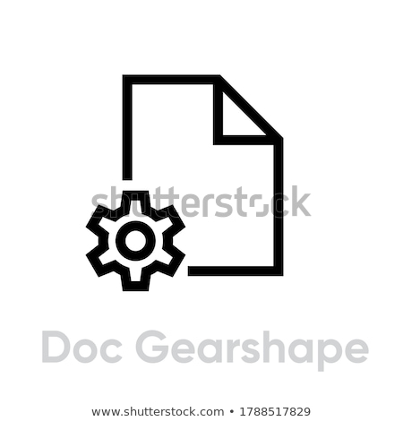 Black and white settings gears File Icon, vector illustration isolated on white background. Stock photo © kyryloff