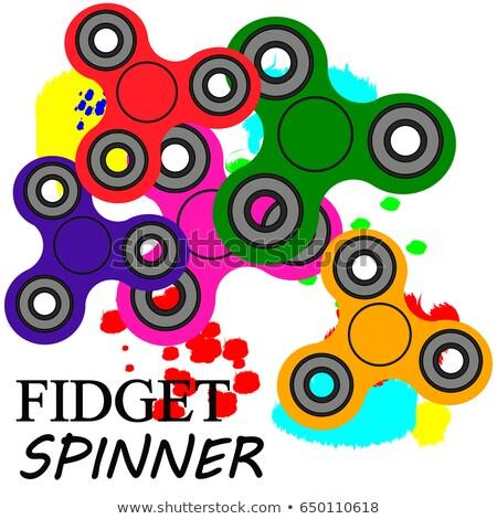 geïsoleerd · vinger · speelgoed · stress · hand · witte - stockfoto © freesoulproduction