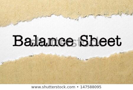 Gescheurd papier winst verlies papier markt succes Stockfoto © Zerbor