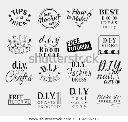 Stock photo: Vintage Retro Vector Labels for banner, poster, flyer or video do it yourself channel