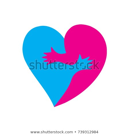Love two halves of heart. hugs passion Stock photo © popaukropa