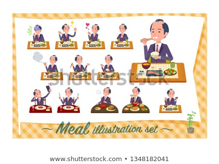 japanese samurai Businessman_Meal Stock photo © toyotoyo