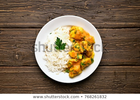 Bowls Of Homemade Curry Meal With Rice Stock photo © mpessaris