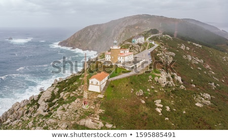 Aerial view of Finisterre end of Saint James Way Stock photo © lunamarina