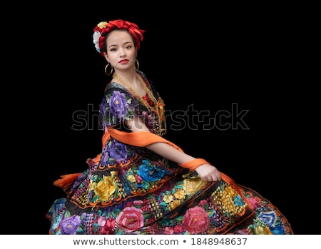 Mexican embroidered Chiapas dress  Stock photo © lunamarina