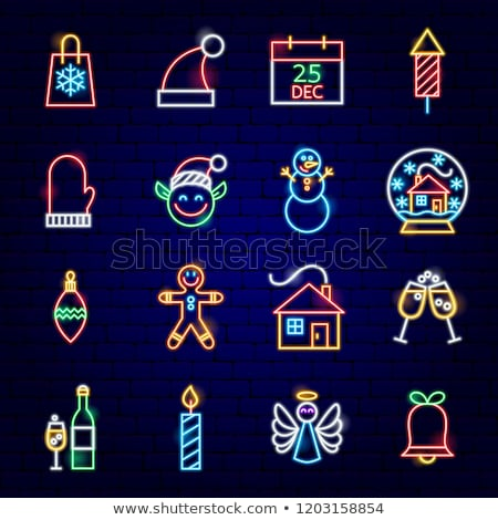 Gingerbread Man Neon Sign Stock photo © Anna_leni