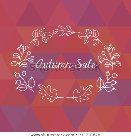 Automne vente design relevant laisse pourpre Photo stock © articular