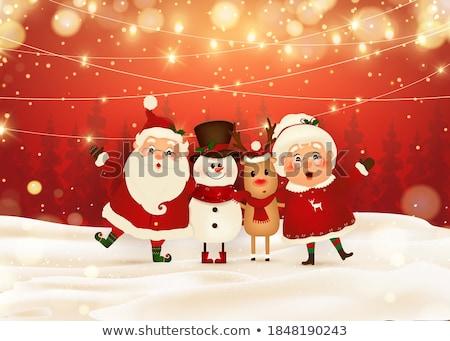веселый Рождества северный олень подарок настоящее снега Сток-фото © ori-artiste