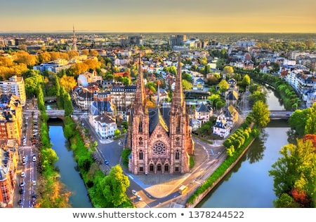 Strasbourg at sunrise Stock photo © Givaga