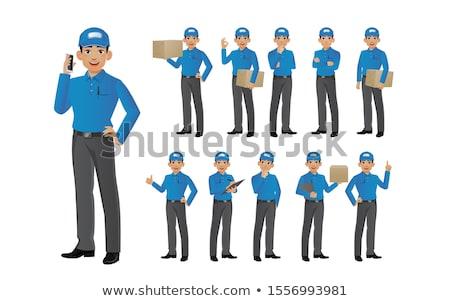 Mensajero paquete establecer cartón mensajero Foto stock © robuart