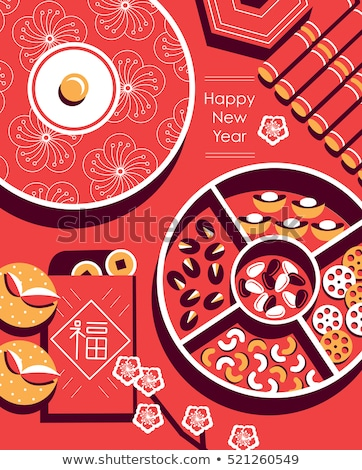 Chinese New Year Desserts Illustration Stock photo © artisticco
