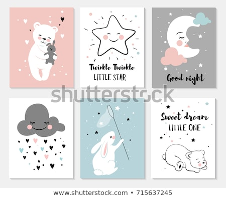 Love Vector Illustration with Toy Bear Color Cards Stock photo © robuart