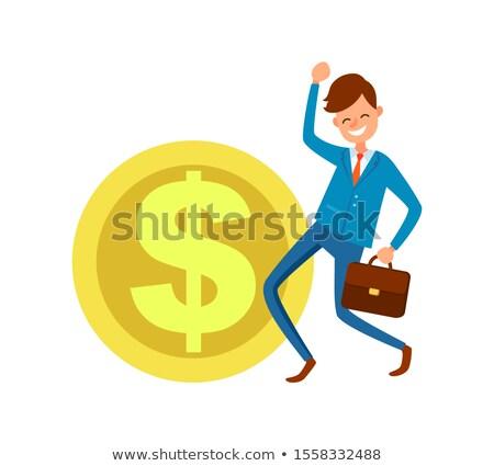 bankár · rajz · szatyrok · pénz · izolált · fehér - stock fotó © robuart