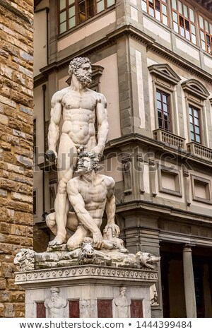 Statue of Hercules and Cacus at Piazza del Signoria in Florence, Stock photo © boggy