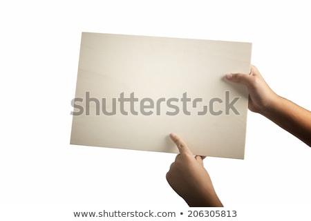 Kids holding wooden plywood Stock photo © colematt