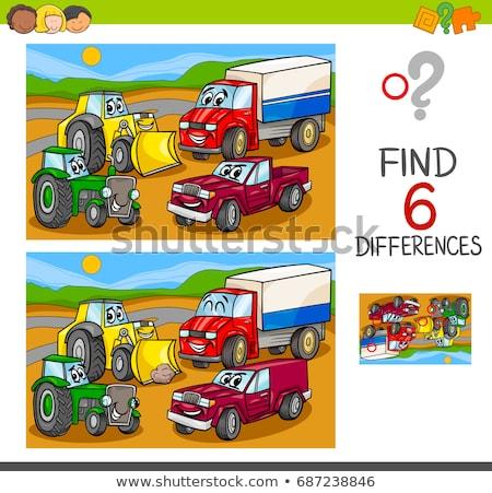 Diferencias juego funny coche Cartoon ilustración Foto stock © izakowski
