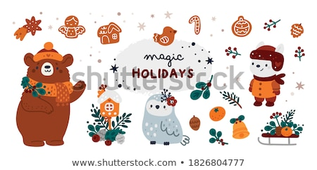 Jingle bells Poster, Man Celebrate Christmas Party Stock photo © robuart