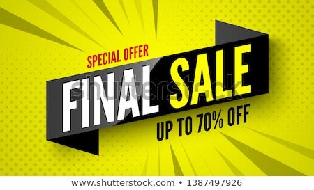 Finał sprzedaży plakat gradient papieru Zdjęcia stock © cammep