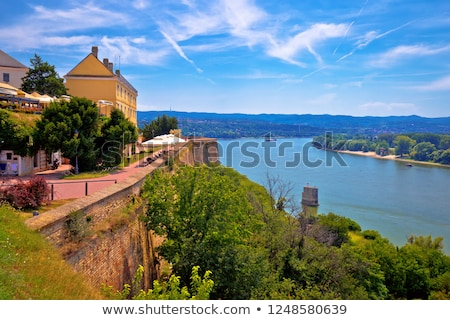 Danube river landscape view from old hillside Petrovaradin town Stock photo © xbrchx