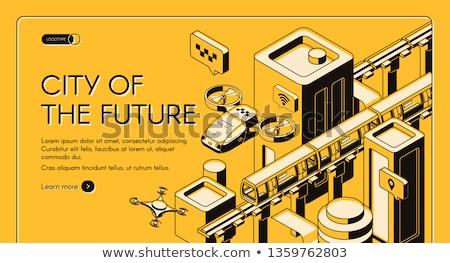 Autonomous taxi concept landing page. Stock photo © RAStudio