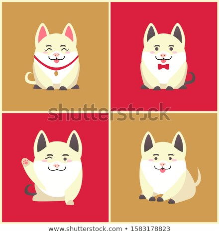 Chinese New Year Animal Pet Pig Animal in Collar Stock photo © robuart