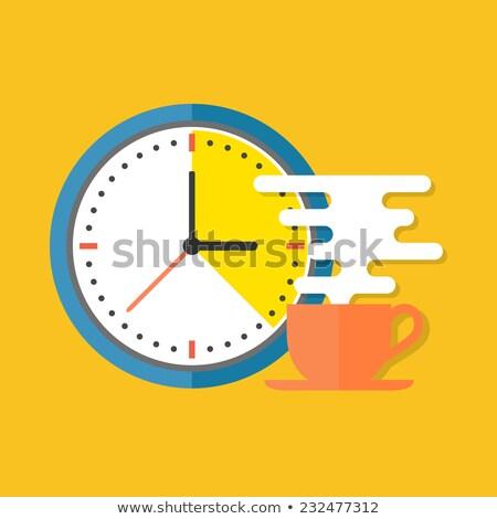 coffee break   flat design style colorful illustration stock photo © decorwithme