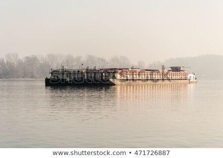 Cargo ship on Danube Stock photo © Givaga